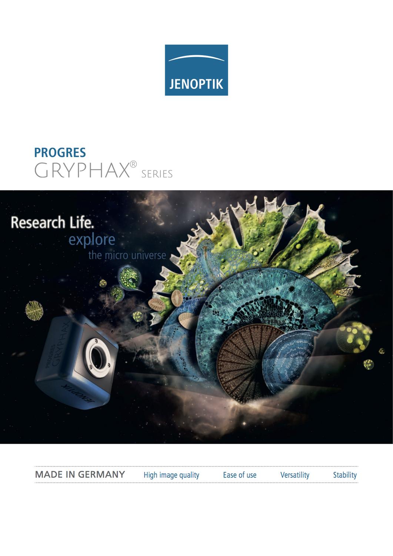 NEW PROGRES GRYPHAX MICROSCOPE CAMERAS